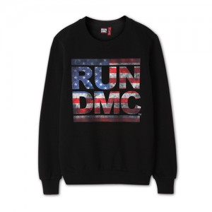 [RUNDMC] US FLAG SWEATSHIRTS (black)