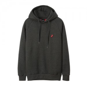 THE ROLLING STONES CLASSIC TONGUE EMB HOODIE (charcoal)