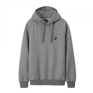 THE ROLLING STONES CLASSIC TONGUE EMB HOODIE (grey)