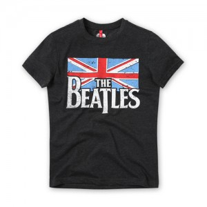 [THE BEATLES] BRITISH FLAG CHARCOAL