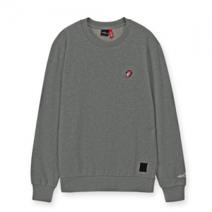 [THE ROLLING STONES] US TONGUE EMB CREWNECK M/GREY