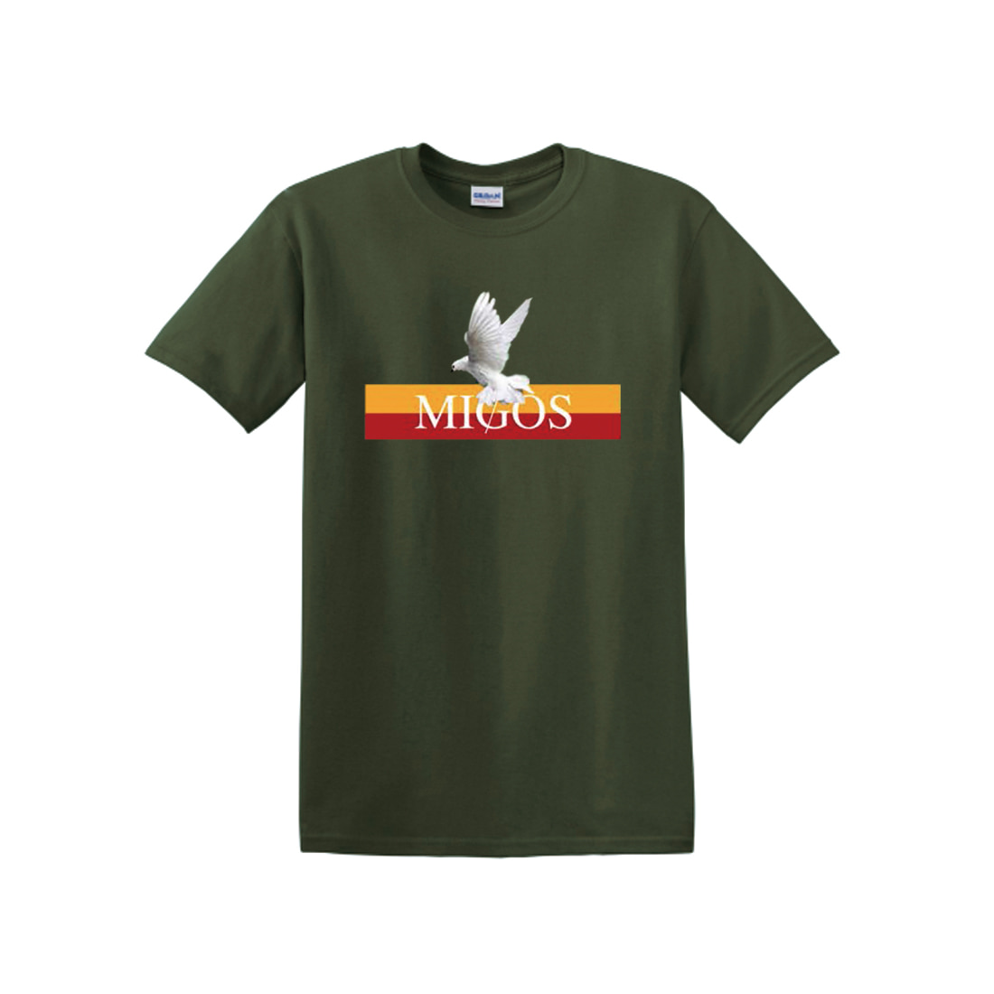 [Migos] DOVE BAND TEE KHAKI