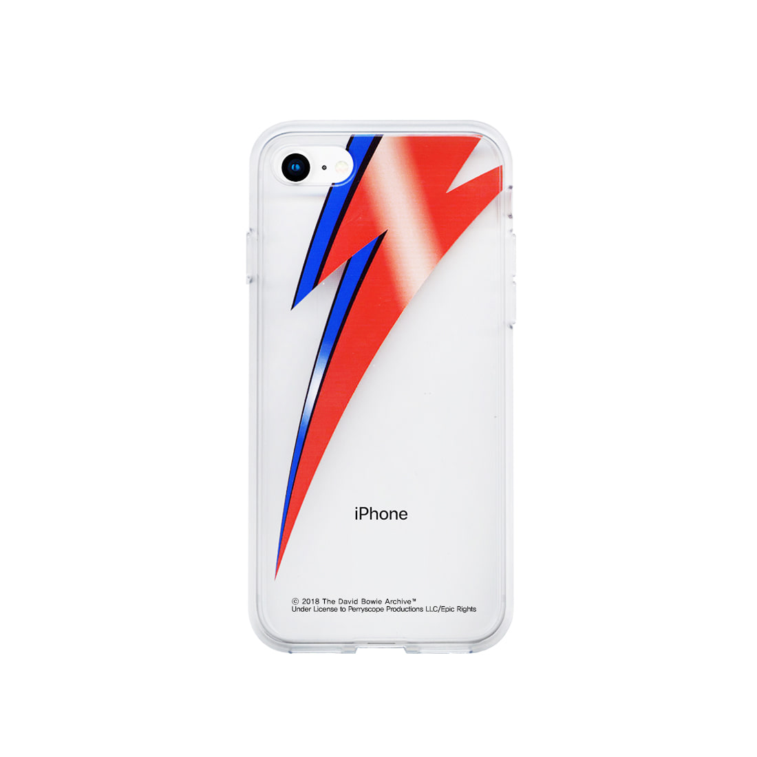 DAVID BOWIE BOLT IPHONE 7/8 CLEAR CASE (BRENT195)