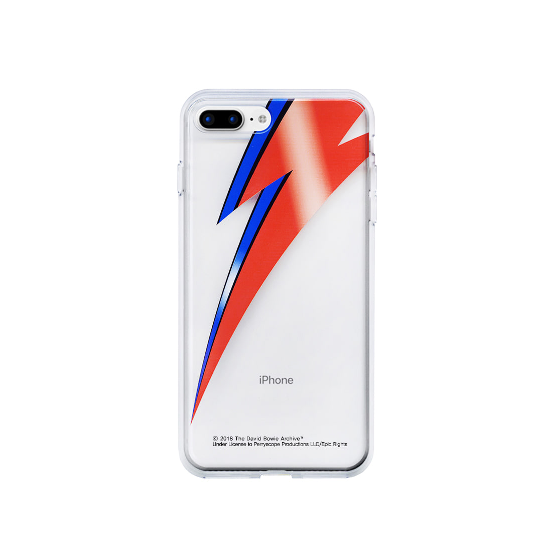 DAVID BOWIE BOLT IPHONE 7 PLUS/8 PLUS CLEAR CASE (BRENT196)