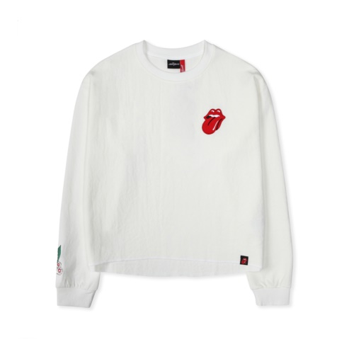 [THE ROLLING STONES] THE ROLLING STONES VINTAGE TONGUE CROP TEE (IV)