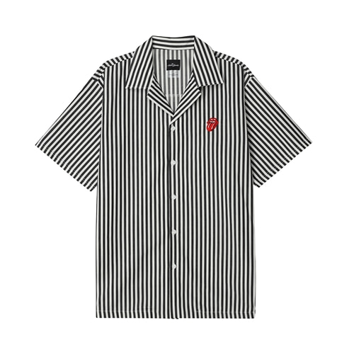 TRS CLASSIC TONGU STRIPE OPEN SHIRT BK