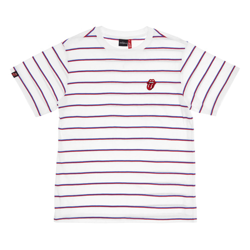 [Bravado]THE ROLLING STONES CLASSIC TONGUE STRIPE 1/2 BORDER TEE WRB