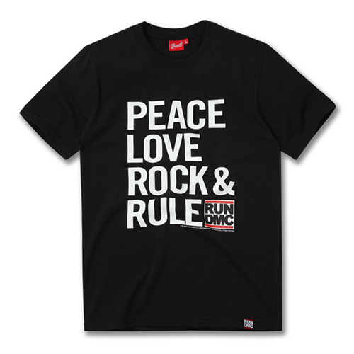 [RUN DMC] PEACE LOVE ROCK N RULE BLACK