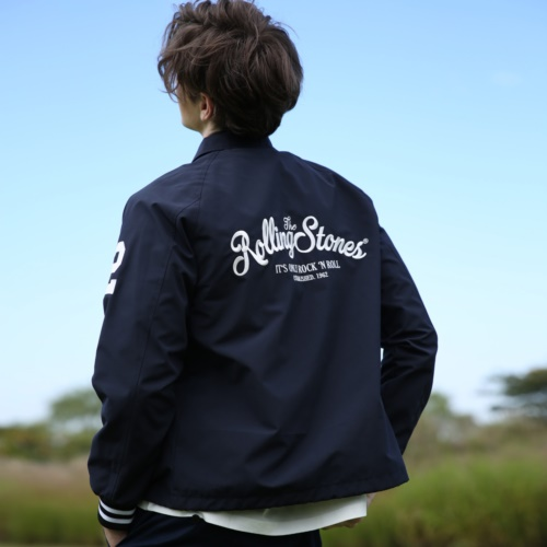 [THE ROLLING STONES] IORR COACH JACKET (NAVY)