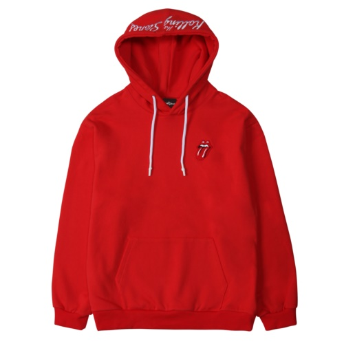 THE ROLLING STONES CLASSIC TONGUE COLOR HOODIE RED