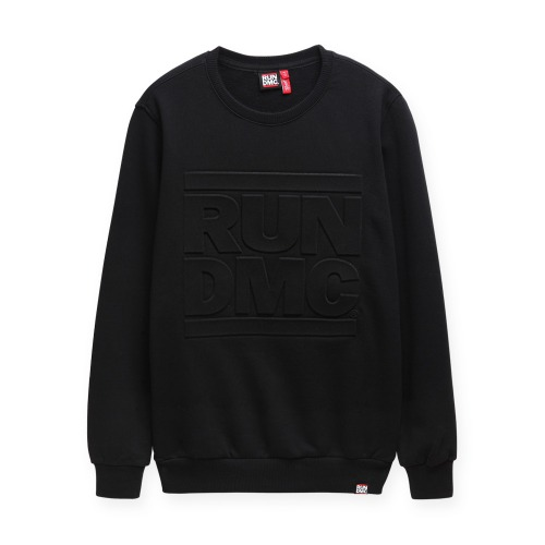 RUNDMC EMBOSSED LOGO SWEATSHIRTS (black)