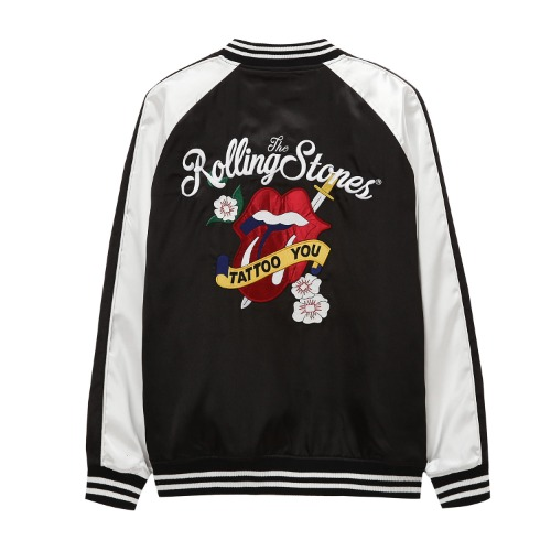 [THE ROLLING STONES] TATTOO YOU SOUVENIR JACKET BLACK